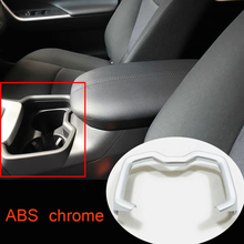 ABS Chrome Style For Toyota RAV4 2019 2020 Accessories Car Styling Car Front Water Cup Frame Decoration Strip Cover Trim Sticker car styling chrome front fog light taillight trim cover strip sticker for toyota chr c hr accessories 2019 2018 car accessories