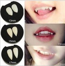 Dentes de vampiro dentes dentaduras adereços 4 tamanho halloween traje adereços festa suprimentos férias diy decorações horror adulto para crianças