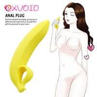 EXVOID Flexible Banana Shape Dildo Sex Toys for Women Anal Plug No Vibrator G Spot Massage Big Penis Silicone Prostate Stimulate