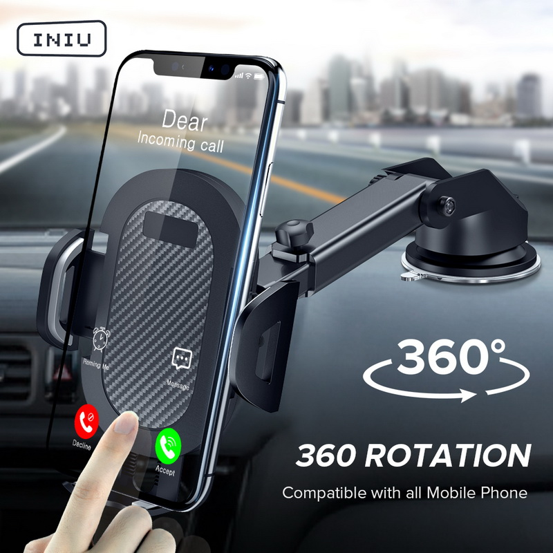 INIU Car Phone Holder Suction Cup Mount No Magnetic Mobile Support Smartphone Stand Cellphone Phone Holder in Car For iPhone 11|Phone Holders & Stands| |  - AliExpress
