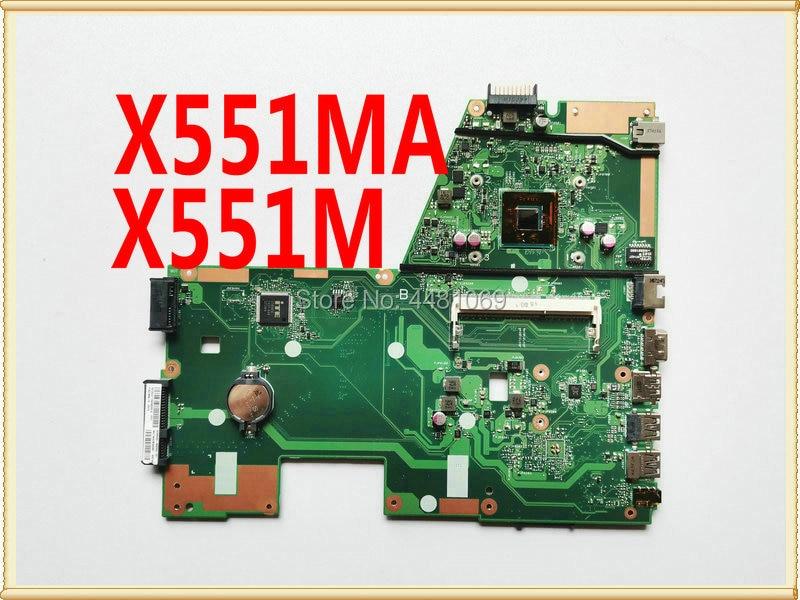 X551MA Laptop Motherboard REV2.0  N2830/N2815 CPU For ASUS D550M F551M Laptop Motherboard X551M X551MA Mainboard  100% Tested OK