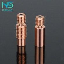 Haldis 3d bimetálico heatbreak bimetálico para e3d v6 hotend heatbreak bloque calentador para prusa i3 mk3 quebra 1,75mm