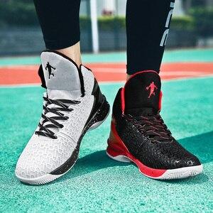 Image 4 - HUMTTO yüksek top büyük boy basketbol ayakkabıları erkekler açık ayakkabı erkekler aşınmaya dayanıklı yastıklama ayakkabı nefes spor ayakkabılar Unisex