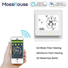 WiFi inteligente controlador de temperatura termostato eléctrica de agua caliente, calefacción de la caldera de Gas de agua funciona con Eco Google casa Tuya.