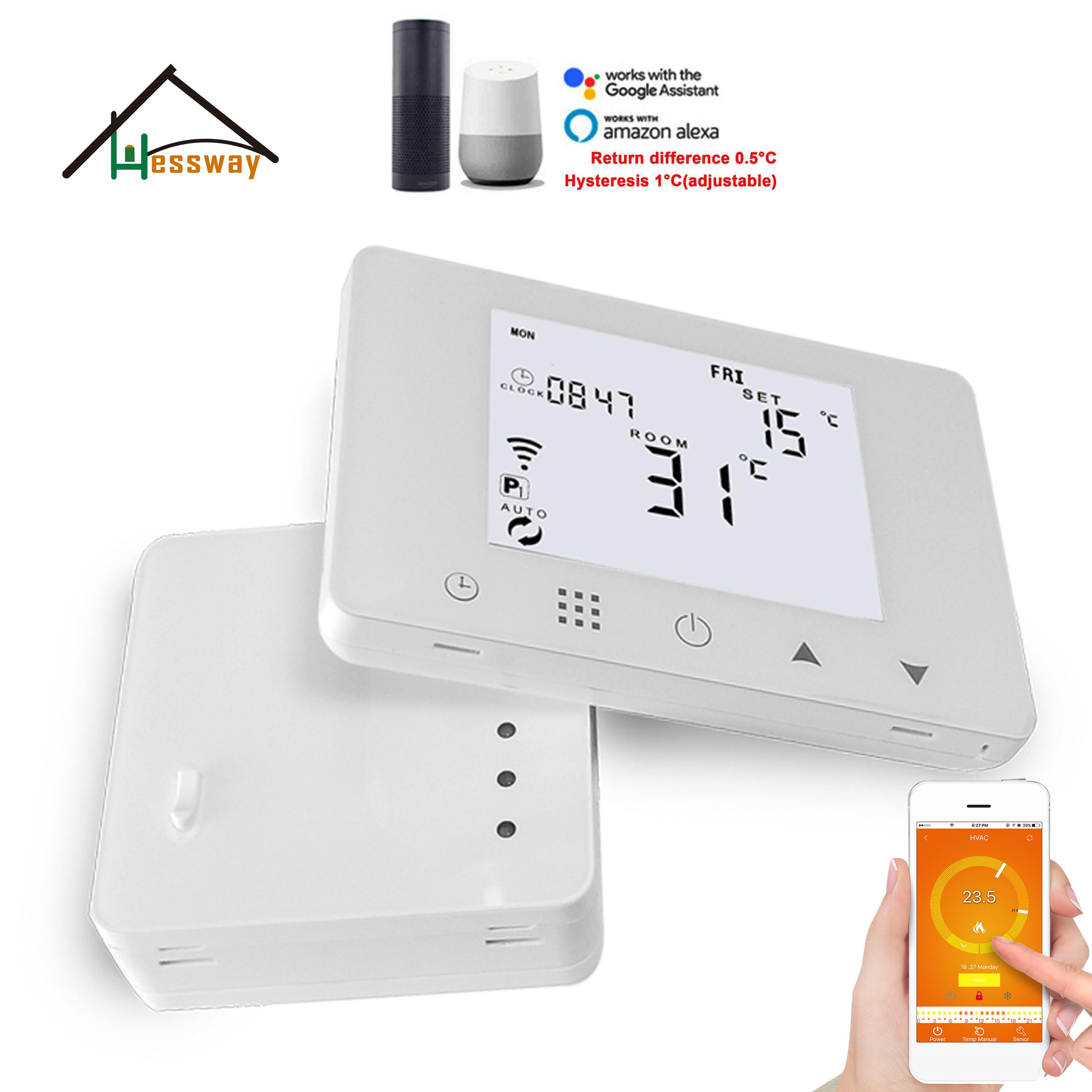 Electric Heating,water Heating Thermostat Wifi&RF Wireless Room Thermostatic For Switch Temperature Control
