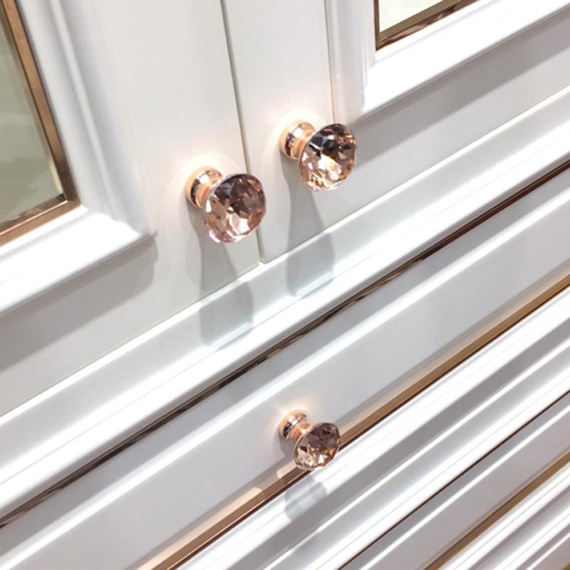 Rose Gold Single Drawer Knob Door Kitchen Cabinet Cupboard Wardrobe Pull Handle