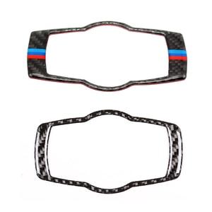 Image 1 - Для BMW 3 серии E90 E92 E93 2005 2006 2007 2008 2009 2010 2011 2012 углеродного волокна фар переключатель рамки крышка Стикеры отделка