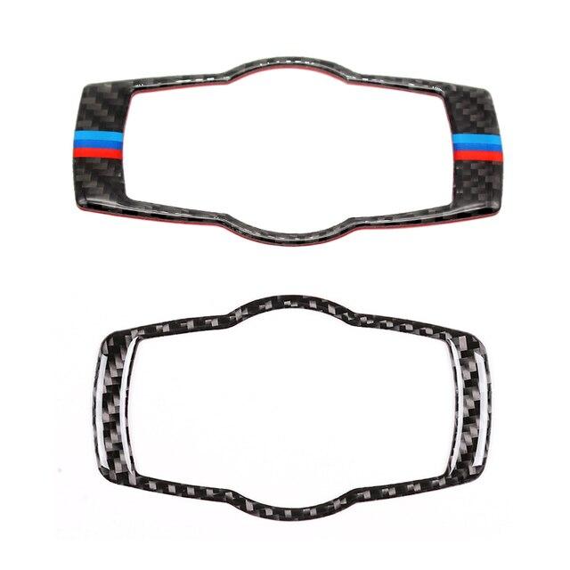 Для BMW 3 серии E90 E92 E93 2005 2006 2007 2008 2009 2010 2011 2012 углеродного волокна фар переключатель рамки крышка Стикеры отделка