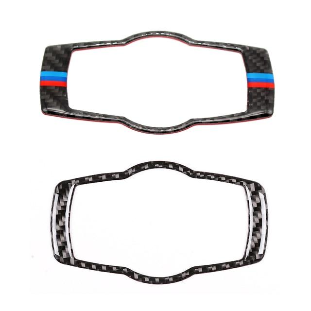For BMW 3 Series E90 E92 E93 2005 2006 2007 2008 2009 2010 2011 2012 Carbon Fiber Headlight Switch Frame Cover Sticker Trim