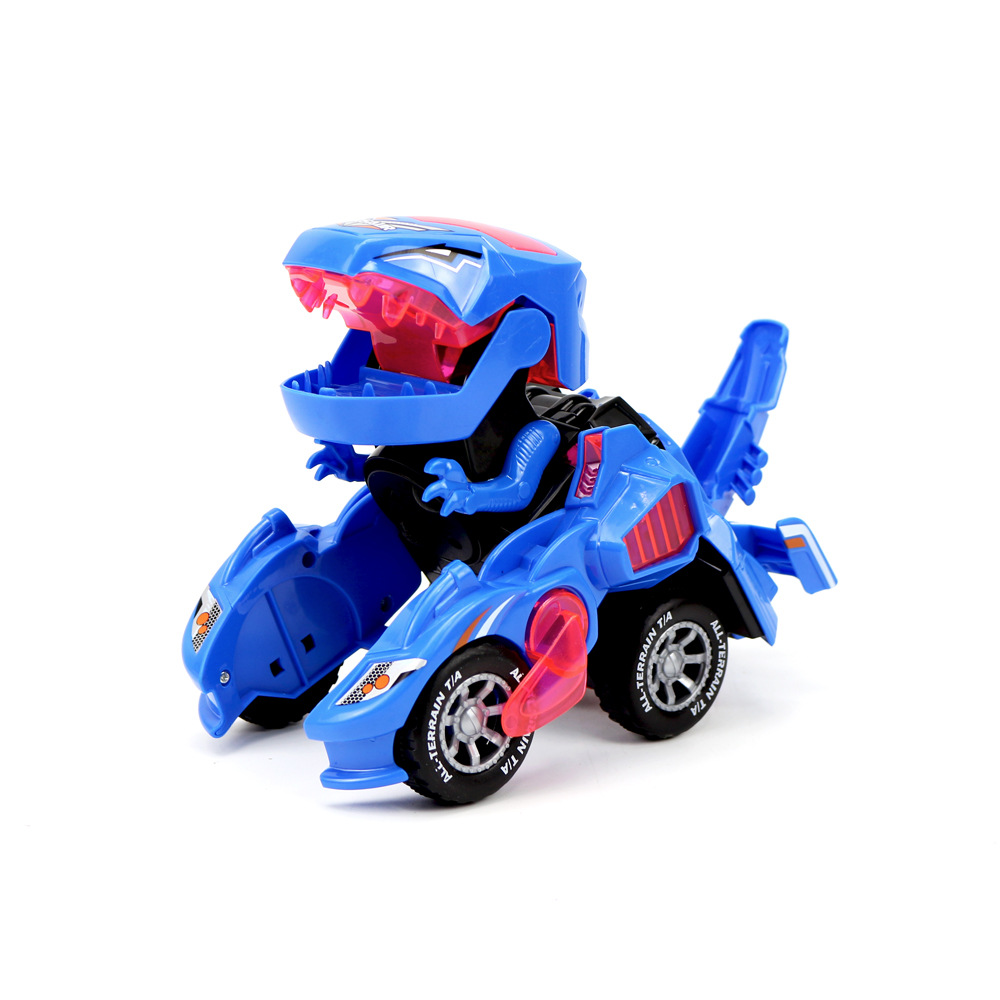 Douyin Hot Selling Universal Electric Transformation Dinosaur Tank Hg-788 Electric Toy Car Educational Stall