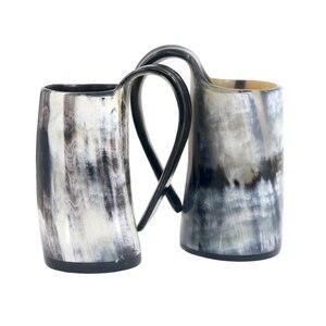 Image 3 - 100% แฮนด์เมดOx Hornแก้ววิสกี้แว่นตาShotถ้วยไวน์ดื่มฮอร์นแก้วไวกิ้งดื่มแก้ว