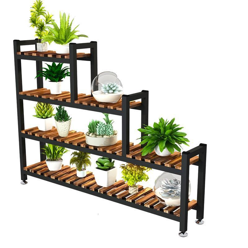 Interior Suporte Flores Table Huerto Urbano Madera Rak Bunga Pot For Indoor Dekoration Outdoor Stand Flower Rack Plant Shelf