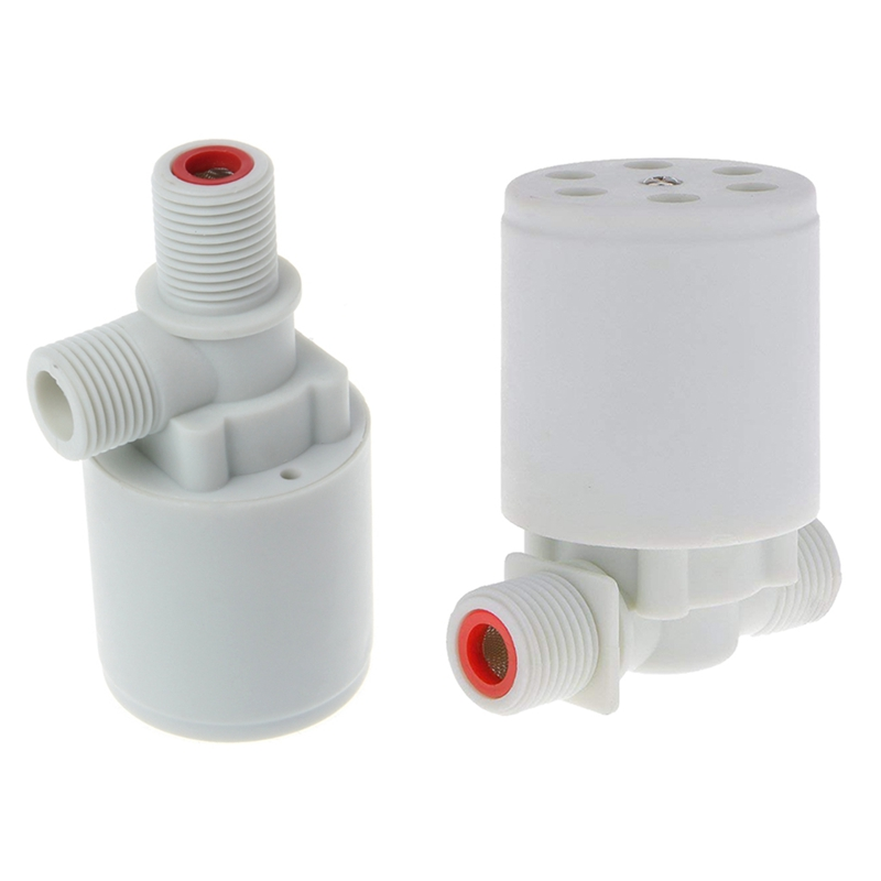 AMS-2 Pcs 1/2 Inch Floating Ball Valve Water Level Control Valve Water Tank Water Tower Pool Solar Automatic Water Level Control