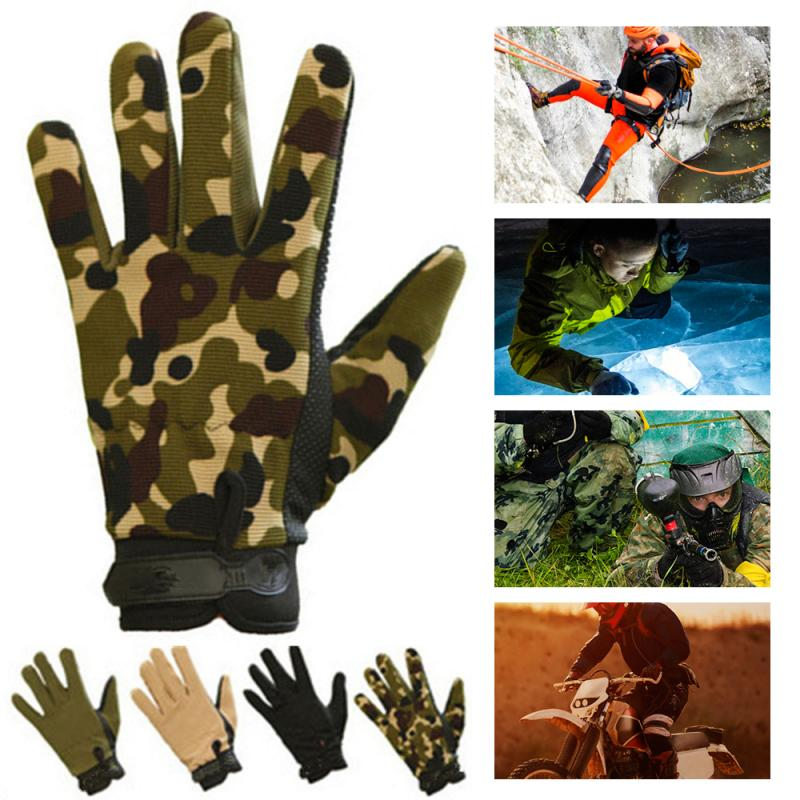 Outdoor Cycling Gloove Camouflage Tactical Military Gloves Windproof Anti-slip Touchscreen Full Finger Hiking Mountaining Gloove