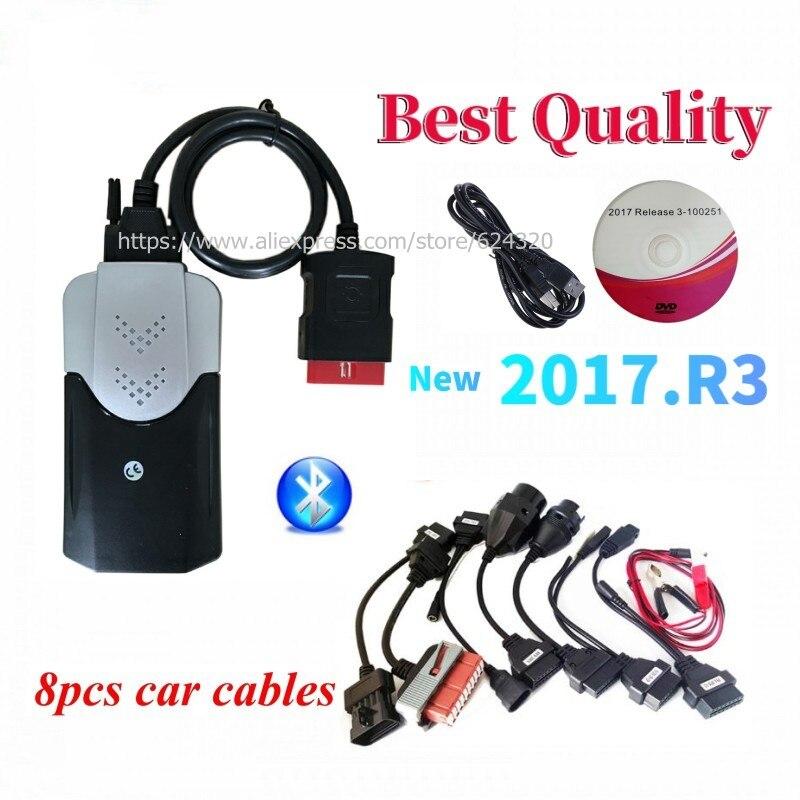 Диагностический сканер OBD 3 в 1, устройство для диагностики автомобиля с генератором ключей, для delicht vd ds150e cdp vdIJk Autocoms pro USB Bluetooth 2017r3