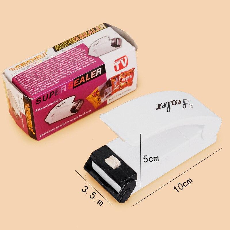 Portable Mini Sealer Home Heat Bag Plastic Food Snacks Bag Sealing Machine Food Packaging Kitchen Storage Bag Clips Whole