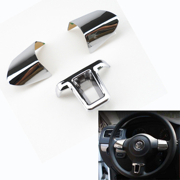 3 piece steering wheel decoration flap Cover Sticker for Volkswagen VW Golf 6 MK6 Polo Jetta MK5 2009 2010 2011 Polo