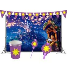 Tangled festa de aniversário decorações jogo rapunzel tema supplys copos banner