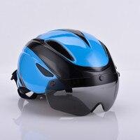 Fahrrad Helm Sicherheit Racing Radfahren Helme Mountain Road Bike Helme mit Winddicht Gläser