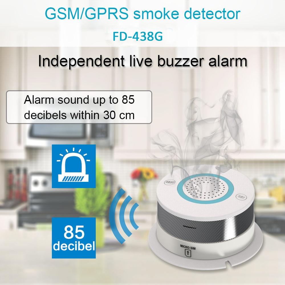 APP Control Smoke Senser Wireless GSM Alarm Home Security System Smoke&Heat Detector (NO WIFI)
