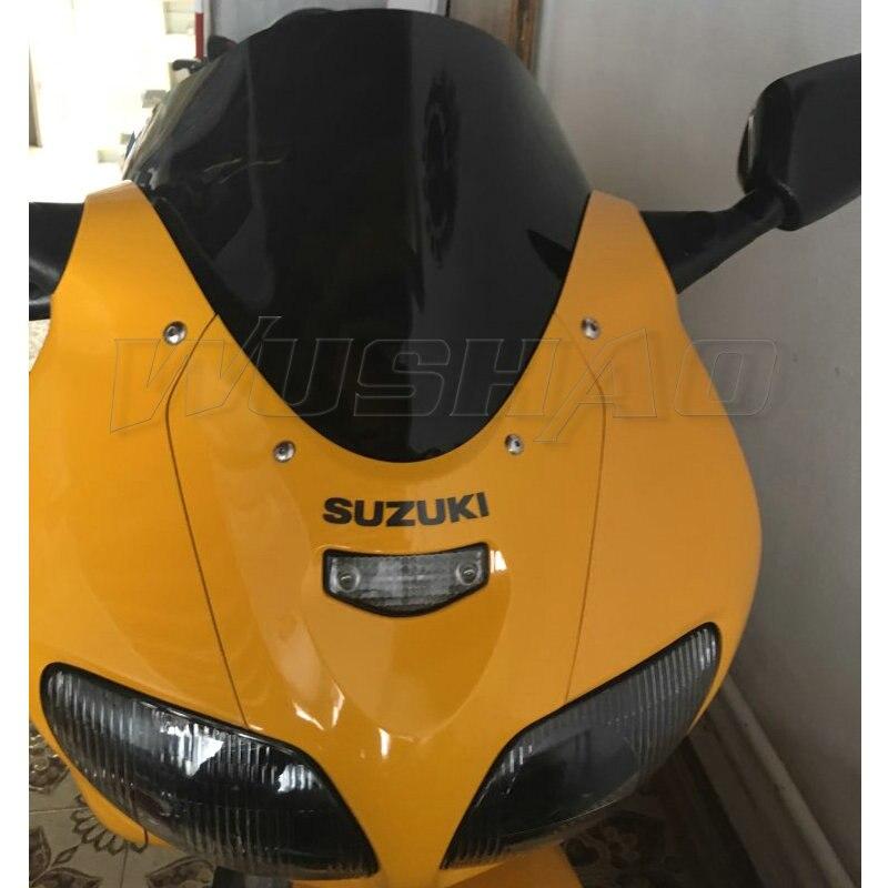 Экран ветрового стекла с двойными пузырьками для мотоцикла 1999 2000 2001 2002 Для Suzuki SV650 SV650S SV 650 S дымчато-черный Иридий