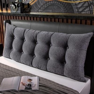 TONGDI Home Soft Large Big Pillow Back Cushion Long Suede Elastic Backrest Multifunction Luxury Decor For Bedside Bed Sofa