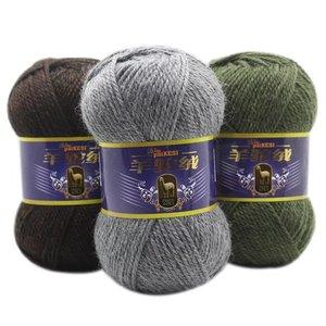 Image 2 - Цветная плотная пряжа для вязания крючком, 500 г/лот, детская трикотажная пряжа для ручного вязания, Альпака шерстяная пряжа