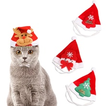 New Pet Dogs Adjustable Christmas cap Funny Cosplay Caps Puppy Decorative Costume Hat x