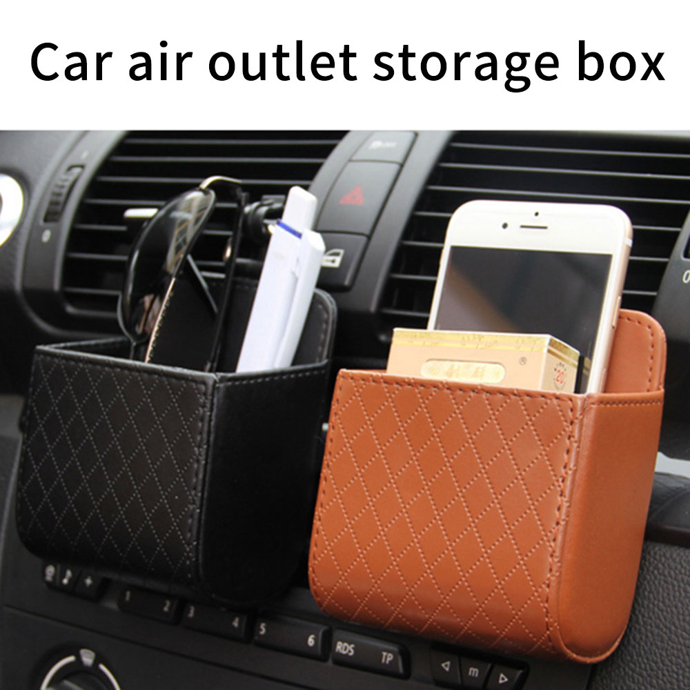 KISSCASE Car Air Outlet Bag Portable Storage For Cigarette Cosmetics Glove Box Holder Feather Box For Xiaomi Huawei IPhone 7 Xr