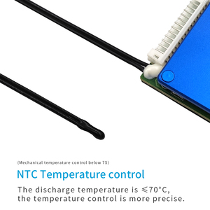 Image 3 - ליתיום 3.6V / 3.7V 10S 36V BMS חשמלי קטנוע סוללה אבזר הגנת לוח עם טמפרטורת מאוזן בקרת PCB