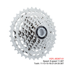 цена на MTB road Bicycle Cassette 8 speed 36T mountain bike cassette variable speed flywheel 8v 8s 11-36T riding Bicycle Part