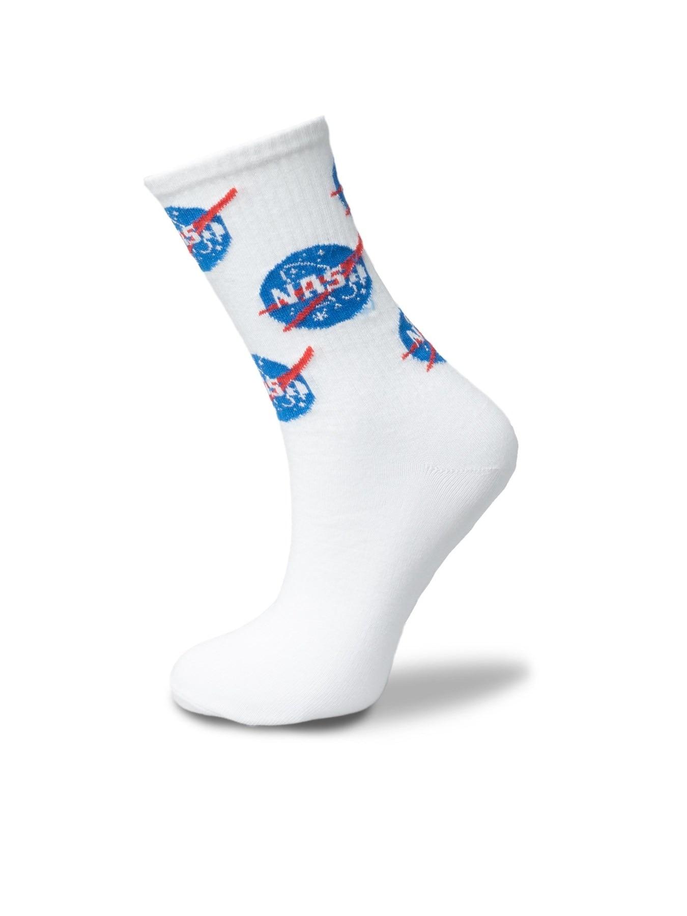 White Nasa Tennis Socks Unisex 36-42