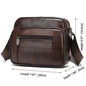 Image 2 - ชายWESTALกระเป๋าหนังแท้กระเป๋าสะพายชายสำหรับชายFlapซิปผู้ชายCrossbodyกระเป๋าหนังmessengerกระเป๋าถือ