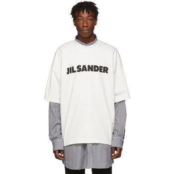 2021 Summer New Unisex T-shirt 100% 1:1 Jil sander designer brand high street short sleeve hip hop oversize loose simple tee 1