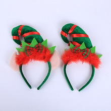 New Christmas Headbands Decoration Creative Red Feather Elf Tip Hat Headband Kids Toys Year Gifts Dropshipping