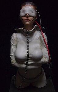 1/6 modern fantasy woman bust Resin figure Model kits Miniature gk Unassembly Unpainted