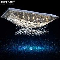 8 luzes de cristal luminária teto retângulo cristal claro lustre lâmpada g4 para sala jantar sala reunião decoração interior