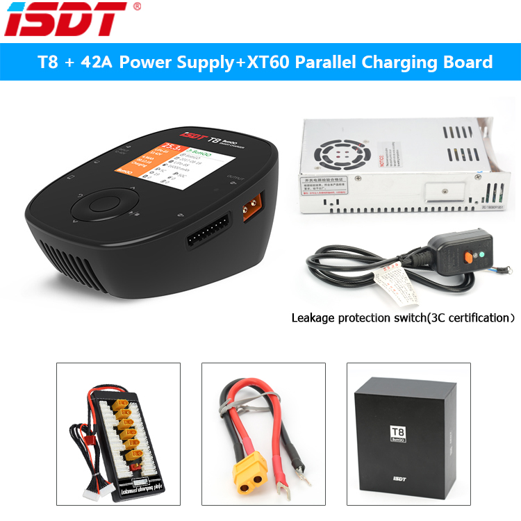 ISDT T8 1000W BattGo Smart Battery Charger 42A 24V power supply For 2-8S Lipo Battery Charging for RC Toy VS D2 SC-620
