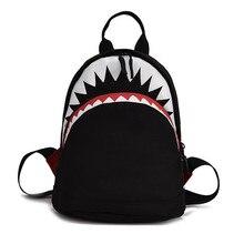 Дети рюкзак 3D акула Shaped школьные сумки девочек мальчиков милый мультфильм животных дизайн Дети Детские школьный 2 размера