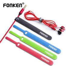 FONKEN 20Pcs Cable Organizer Phone Cord Management Mouse AUX HDMI Earphone Wire Winder Ties Winding Nylon Hook Loop Fixed Cables