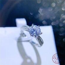 HI MAN 925 Sterling Silver Korean Exquisite Crystal Adjustable Ring Women Temperament Elegant Banquet Gift Jewelry