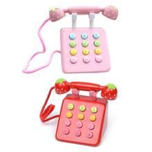 Девушка игрушки телефон клубника моделирование розовый мебель