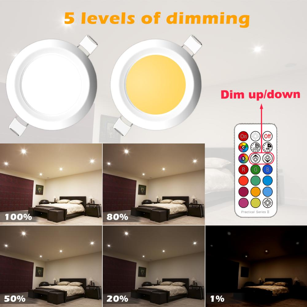 lowest price Dimmable LED Spot light 7W round downlight RGB Recessed Ceiling Lamp 220V 110V RGBW Color Changing LED Lighting for Room Bedroom
