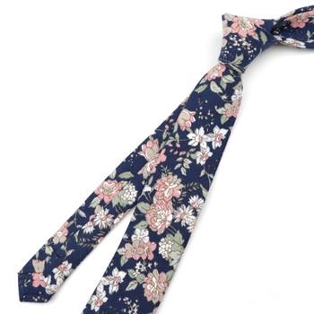 Fedrick Floral Printed 6cm Necktie – Pink