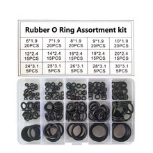 цена на 200pcs/Box Rubber O Ring Assortment Kit Oring Washer Gasket Sealing Watertightness O-Ring Pack 15 Size Silicone Rubber Rings Set