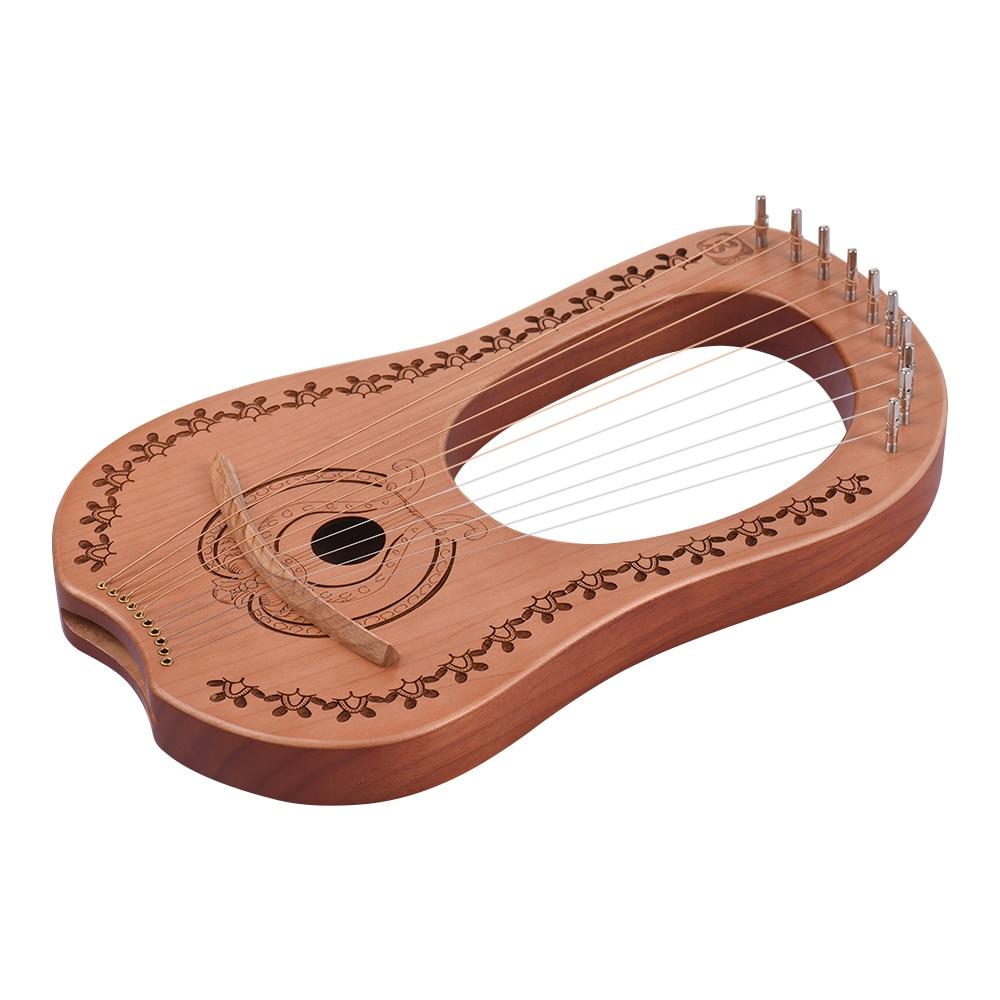 Новый ИРИН 10 струны деревянный цвет арфа древности китайский стиль портативный Лира арфа Лира Instrumento музыкальные Струнные инструменты - 6