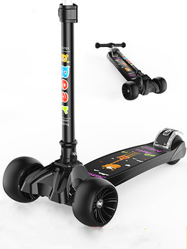 Coolride Kids Kick Scooter Kickboard  For 1~10 Ages Child Ride On Toy Boy Girl Toddler Scooter Adjustable outdoor ride push exercise scooter children adult kickboard 2 wheels safety scooter fixed bar 360 degree street kid kick scooter