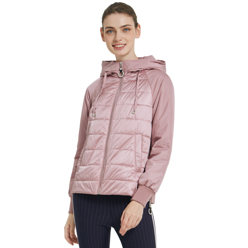 ICEbear 2019 New Women's Autumn Coat High Quality Brand Clothing Short Coat with Hat Fashion Woman Clothing GWC19070I icebear 2018 new autumn women coat cotton fashion ladies jacket high quality autumn jacket detachable hat brand coat gwc18038d