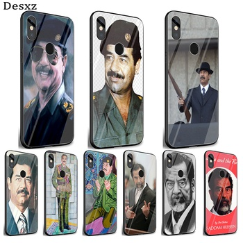 Mobile Phone Glass Case For Xiaomi Note 5 6 7 Pro F1 A1 A2 4X 5X 6X 9 Cover TPU Saddam Hussein Iraq Smart Shell
