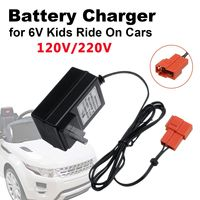AC 120V/220V Battery Charger for 6V Kids Ride On Cars  Kid Trax for Disney Frozen for Huffy for BMW X6 X5